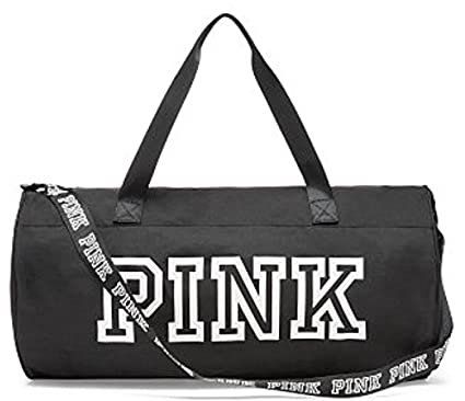 bacec0be0cda Amazon.com: VICTORIA SECRET PINK WEEKENDER DUFFLE. Black and white. DUFFLE  BAG - RARE. - SOLD OUT: Everything Else