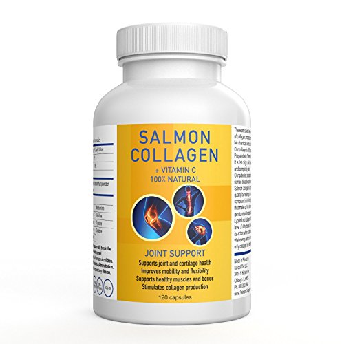 SALCOLL COLLAGEN Hip & Joint Mobility Capsules - For Increased Movement Hindered By Joint Pain - Aids in Tissue Cartilage & Bone Repair - For Improved Energy Vitality and Quality Of Life - 120 Caps by Salcoll Collagen