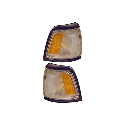 Corner Light Set Of 2 Compatible with Toyota Pickup 92-95 Right and Left Side Included Assembly w/Gray Trim 2WD BaSE Model