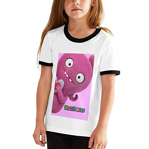Uglydolls Shirt Youth Shirt Casual Short Sleeve T-Shirt for Girl (L) Black