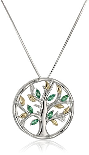 xpy-sterling-silver-and-14k-yellow-gold-family-tree-with-created-emerald-and-diamond-accent-pendant-