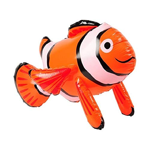 Bargain World Inflatable Clown Fish (with Sticky -