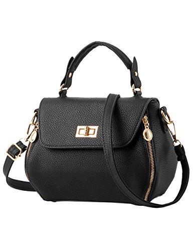Lucida Tote Bianco Bag Tracolla A Nuove Pu Leather Menschwear Signore Borsa Nero twvqZZ