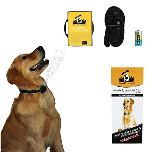 - Downtown Pet Supply Citronella No Bark Automatic Spray, Humane No Shock Collar, Anti-bark with Advanced Bark Detection (Excludes Citronella Spray Can)