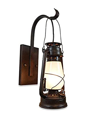 Lantern Wall Sconce Large Frosted Hurricane Glass