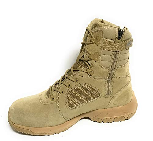 (Magnum Men's Response III 8.0 Side-Zip Slip Resistant Work Boot,Desert Tan,11 M US)