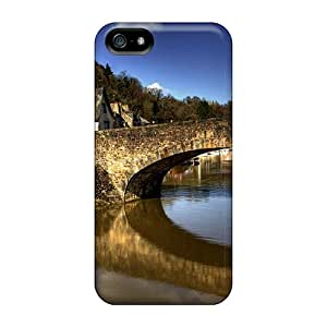 Tpu Fashionable Design Village Bridge Rugged Case Cover For Iphone 5/5s New