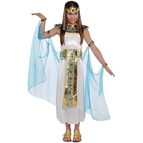 Cleopatra Egyptian Historical Asp Childs Kids Girls Fancy Dress Costume