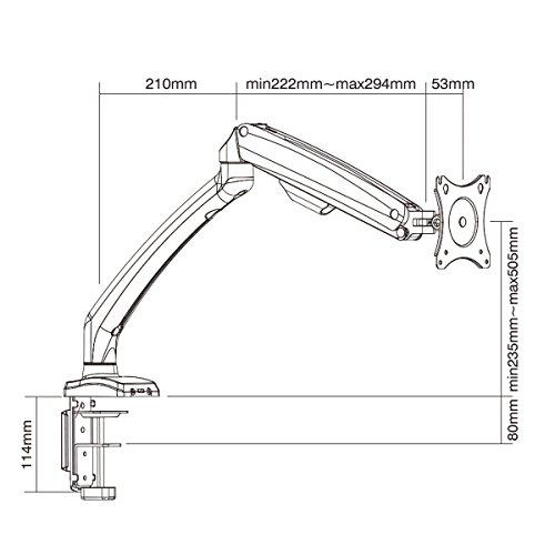 Low Cost Ha Elegant Aluminum Monitor Stand Gas Spring Desk Monitor