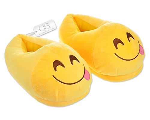 DSstyles Diversión Caliente Lindo EMOJI Cara Zapatos de Invierno Unisex Adulto Zapatillas yum