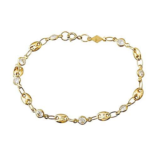 Bracelet 18k or aussières zircone cubique [AA6698]