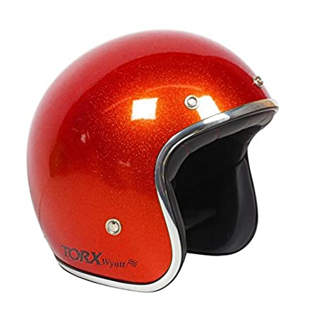 TORX Casque Moto WYATT Taille XL SHINY GLITTER ORANGE