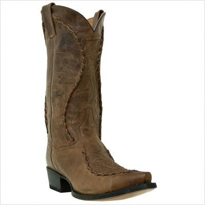 Dan Post Mens Brown Deertan Leather Phoenix 13in Western Cowboy Boots 7.5 D
