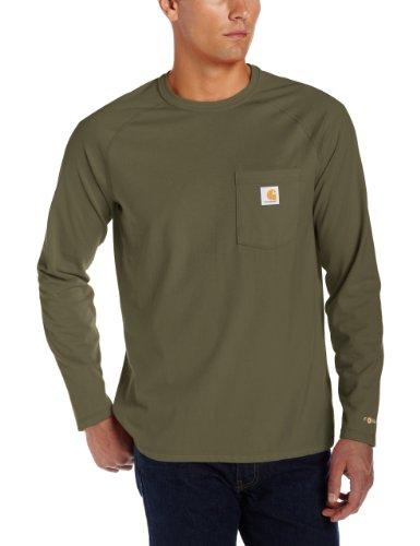 Carhartt Force® Cotton Long Sleeve T-Shirt (Small, Moss)