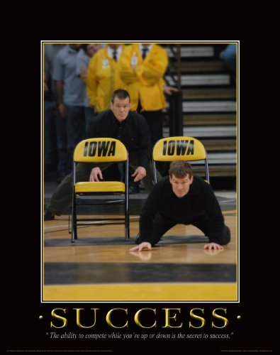 Iowa Hawkeye Wrestling Motivational Poster Art Print 11x14 Kids Shoes Head Gear Singlet