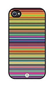 iZERCASE Rainbow rubber iphone 4 case - Fits iphone 4 & iphone 4s