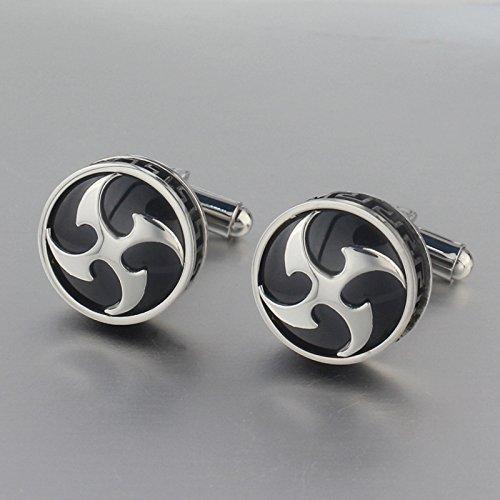 Sport Titanium Cufflinks (AnaZoz Jewelry 204 round cufflinks men's shirt cuff link sports metal)