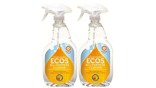 Earth Friendly Products All Purpose Spray Cleaner - 22 oz - Orange - 2 (Natural Grease Cleaner)