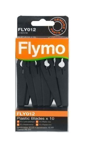 Flymo FLY012 Plastic Lawnmower Blades - (Pack of 10) Husqvarna