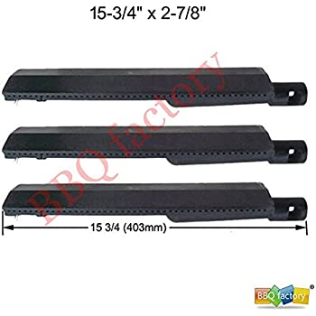 bbq factory Replacement Cast-Iron Grill Pipe Burner (3-pack) Select Gas Grill Models By Aussie, Bakers and Chefs , Barbeques Galore (Turbo), ...