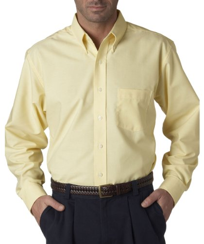 UltraClub� Men's Classic Wrinkle-Free Long-Sleeve Oxford (Butter) (2X-Large) (Classic Oxford Oxford Shirt)