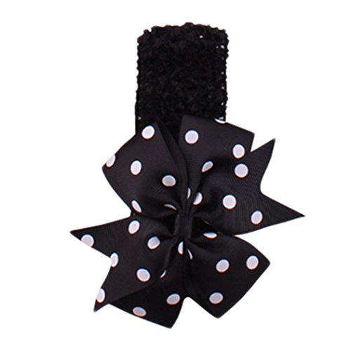 Usstore Headband Baby's Kids Toddler Hair Band Headbands Girl's Flower Head Wear Hair Bow Wave Bandeau Hair Accessories Beautiful Headband Hair Accessories Gift (Black)