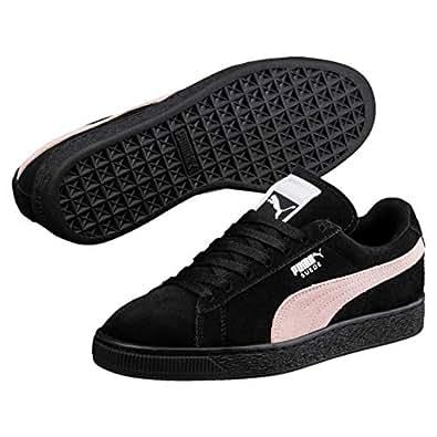 PUMA Women's Suede Classic Trainers Sneakers, Black (Puma Black-Pearl), 6.5 US