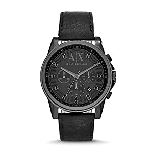 Armani Exchange Men's AX2507 Black Leather Watch