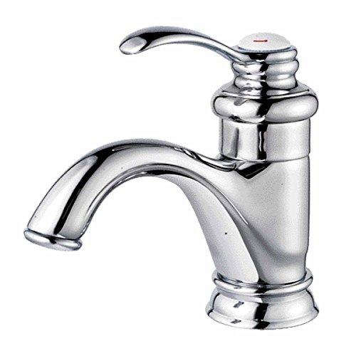 Brass Bathroom Faucet Chrome Plated Single Hole Tarnish Resistant Single Handle No-Leak (Chrome Plated Single)