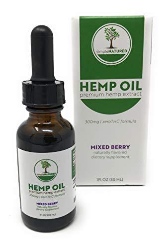 Simple Natured Hemp Oil Drops (Mixed Berry)