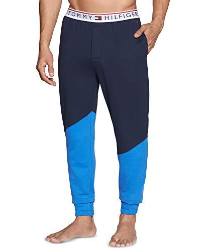 (Tommy Hilfiger Men's Modern Essentials Lounge Jogger Pant (Hampton Blue, Large))