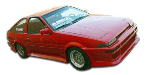 Side Skirts Speed (Duraflex ED-WBT-305 V-Speed Side Skirts Rocker Panels - 2 Piece Body Kit - Fits Toyota Corolla 1984-1987)