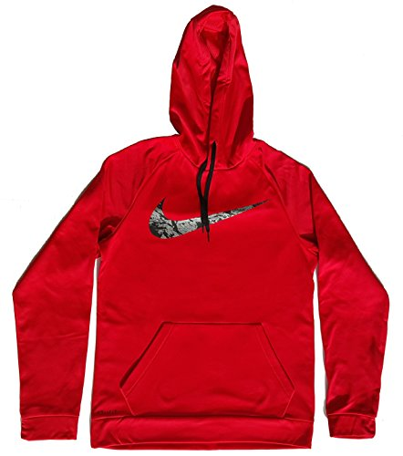 Nike Men's Therma Training Hoodie 860495-657 (Small) University Red/Black/Reflective Silver by NIKE