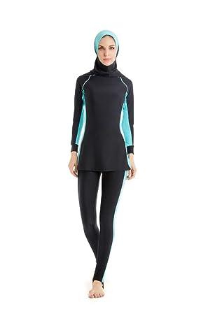 13b7c033846c1 nadamuSun Modest Muslim Swimwear Islamic Swimsuit for Women Hijab Swimwear  Full Coverage Swimwear Muslim Swimming Beachwear