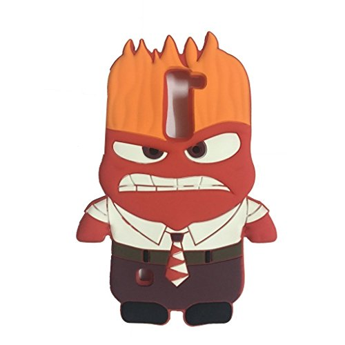 LG K7 Silicone Case,Emily Fashion Super Cute 3D Cartoon Character Angry Man Protective Silicone Back Case Cover for LG - Characters Male Cartoons
