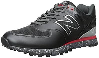 New Balance Men's NBG574B Golf Shoe, Black/Red, 8 D US