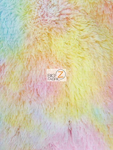 Hug-Z Minky Solid Shaggy Baby Soft Fabric by The Yard DIY Baby Blankets Decor Clothing Snuggle (Rainbow) ()