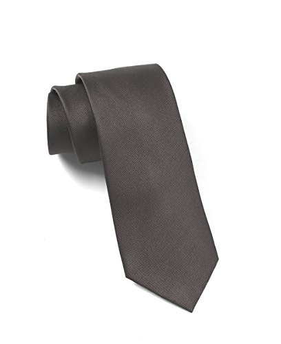 The Tie Bar 100% Woven Silk Black GrosGrain Solid 3 Inch Tie