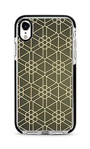 Stylizedd Apple iPhone XR Cover Impact Pro Black Military Grade Dual Layer Case - Hexarab Full