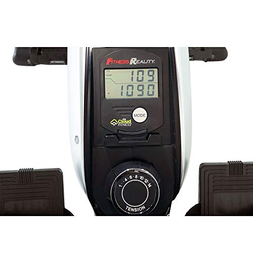 FITNESS REALITY – Máquina de remo magnética 1000 PLUS con bluetooth, con ejercicios extendidos de cuerpo completo…