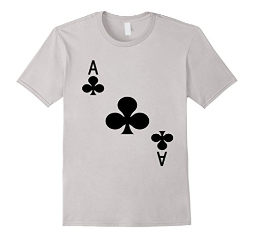 Mens Ace Of Clubs T-Shirt Playing Card Tee | Halloween Costume T XL (Club Playing Card Costume)