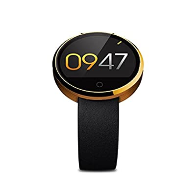 Sinma Waterproof Bluetooth SmartWatch, All-in-1 Finger Gestures Voice Control Smart Wirst Watch with Heart Rate Monitor, Sedentary Reminder, Two Way Anti-lost, Pedometer, Remote Camera Function, Gold