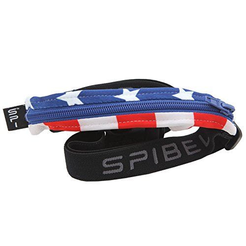 SPIbelt Sports/Running Belt: Original – No-Bounce Running Belt for Runners, Athletes and Adventurers – Fits iPhone 6 and Other Large Phones (Specialty American Flag, 24″ through 47″)