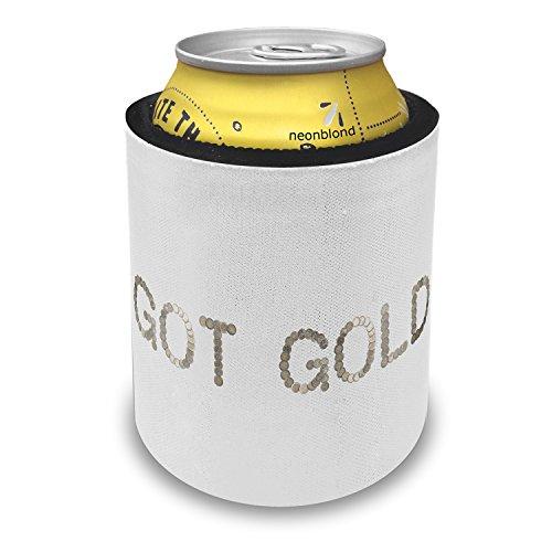 (NEONBLOND Got Gold Euro Coins Money Slap Can Cooler Insulator Sleeve)