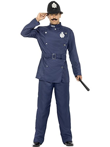 [Smiffy's Men's London Bobby Costume, Blue, Large] (British Police Hat Costume)