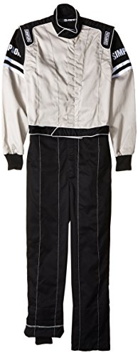 Simpson L205271 Legend II Suit, Gray/Black, Medium - Simpson Racing Gear