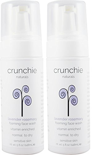 CRUNCHIE NATURALS Lavender Rosemary Foaming Face Wash (2 Pack)