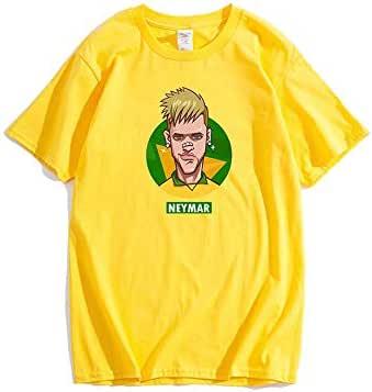 تي شيرت مشجعي فريق البرازيل لكرة القدم 2018 فيفا كأس العالم البرازيل نيمار جونيور جيرسي لكرة القدم قصيرة الأكمام تي شيرت الصيف الأعلى الحجم