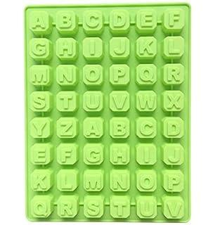 Molde de 48 letras alfabeto repostería hielo gelatina de molde molde de chocolate Mousse molde de