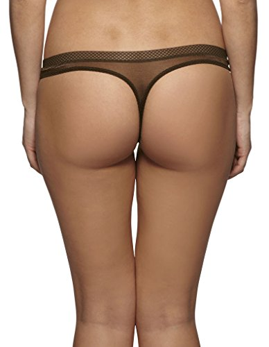 Gossard Glossies Rich Brown Thong 6276